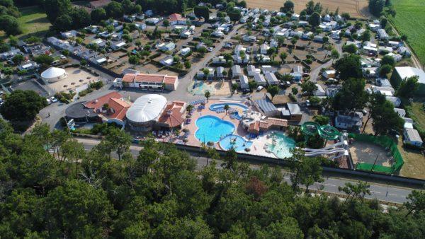 camping 5* les Chouans St Hilaire de Riez et sa vue aérienne