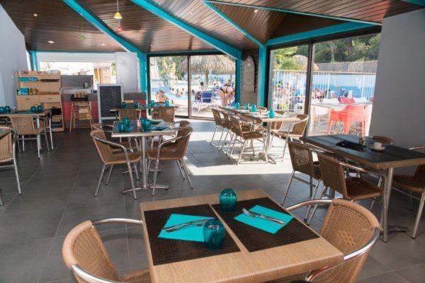 table du restaurant camping à St Hilaire de Riez