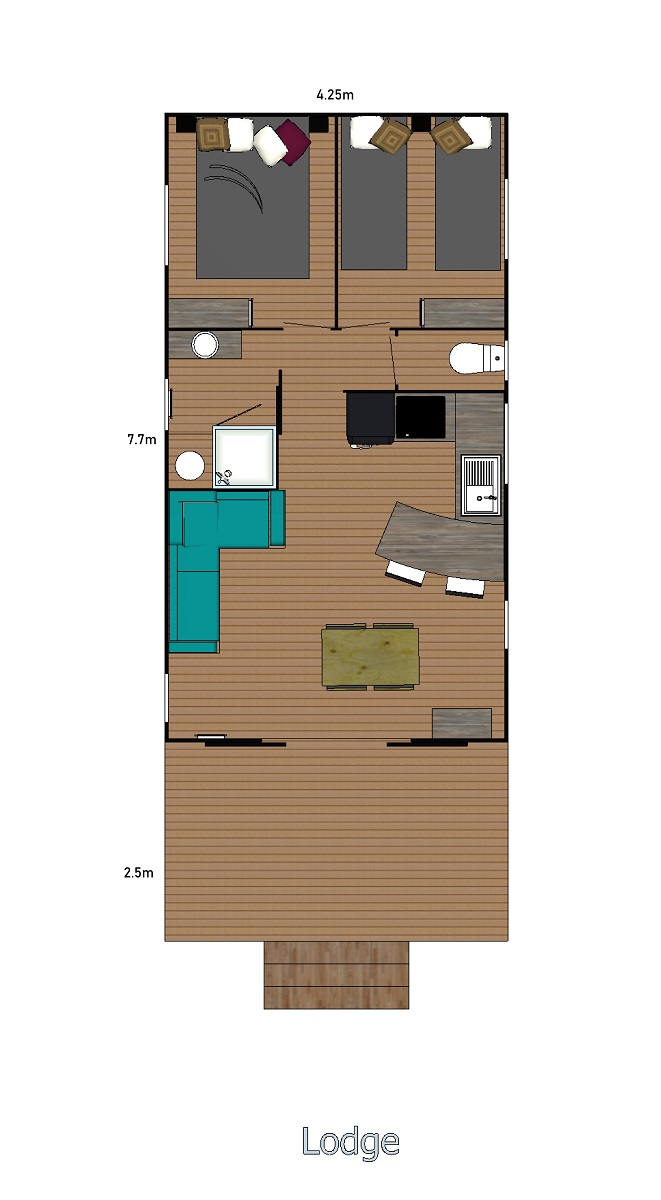 2 slaapkamers – Le lodge VIP